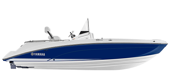 Yamaha Boat 210 Fsh Deluxe 2018 Yacht Blue Side Profile