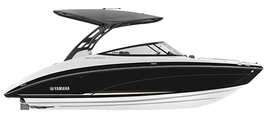 Yamaha boat 242 limited s e series 2018 black side profile for Yamaha outboard financing