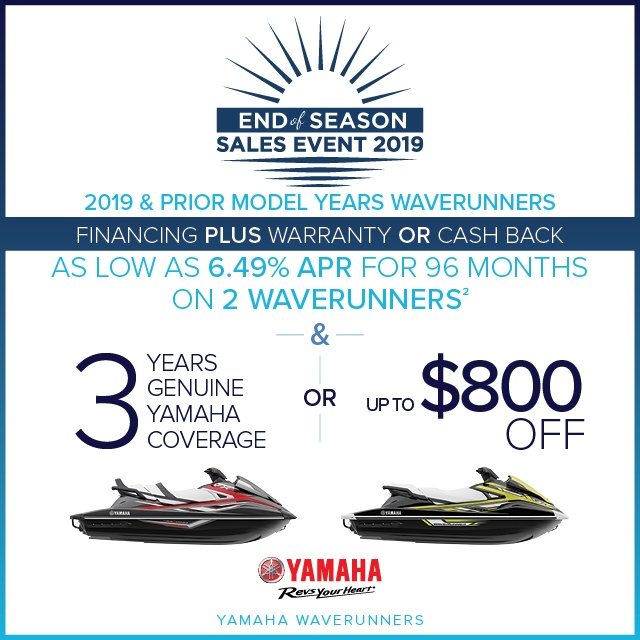 Bayside Jetdrive Yamaha Waverunners Offers End of Season Sales Event